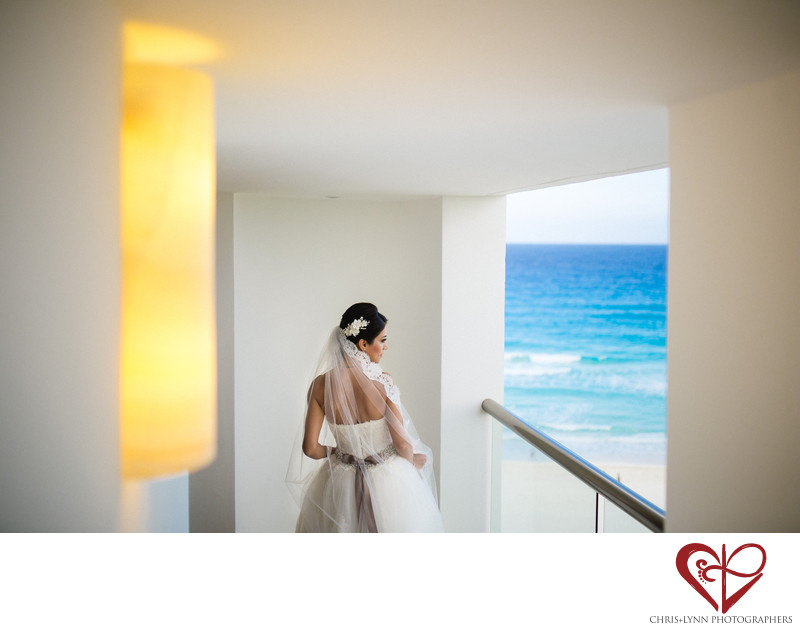 Persian Cancun Wedding Bride Photo
