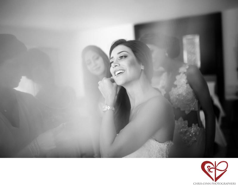 Bride Gets Ready with Bridesmaids at Persian Wedding