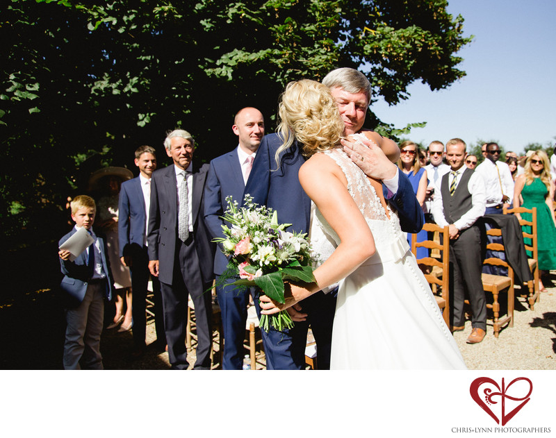 Chateau de St Loup Wedding Photos, ceremony moment