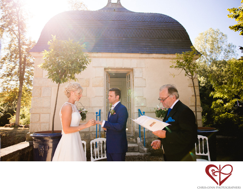 Chateau de Saint Loup Wedding Ceremony Photos 5