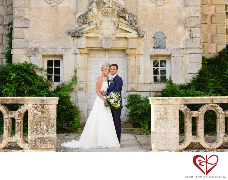 Chateau de Saint Loup Wedding Bride Groom Portraits