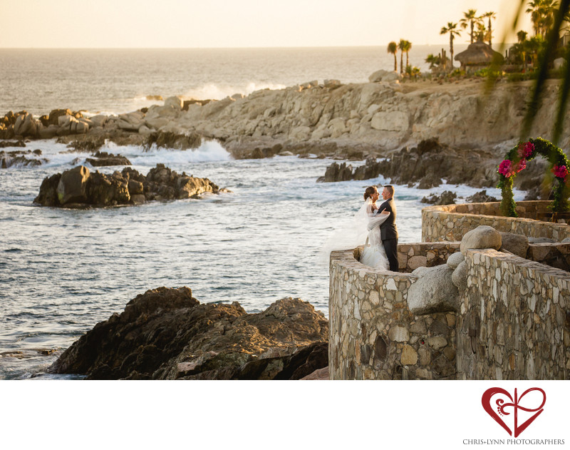 Esperanza Cabo Wedding Bride and Groom Portrait