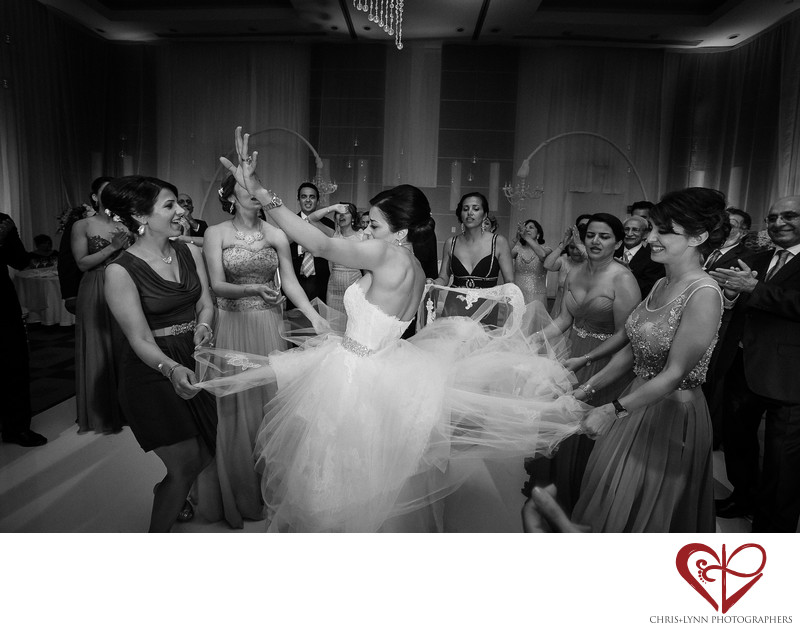 Le Blanc Persian Wedding Dance Photo