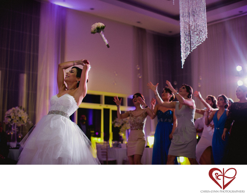 Bouquet Toss, Le Blanc Hotel Wedding