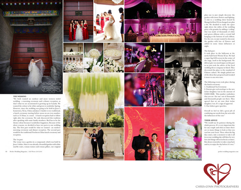 PERFECT WEDDING MAGAZINE - X'IAN CHINA WEDDING 2