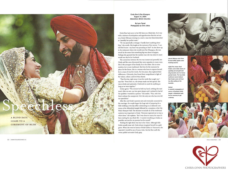 REAL WEDDINGS - SIKH WEDDING FEATURE