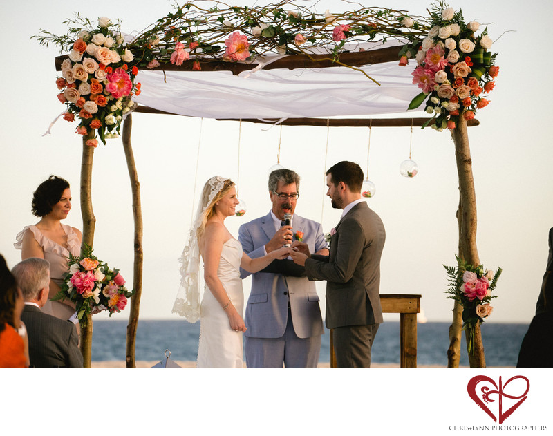 Club Campestre Beach Wedding Ceremony Picture