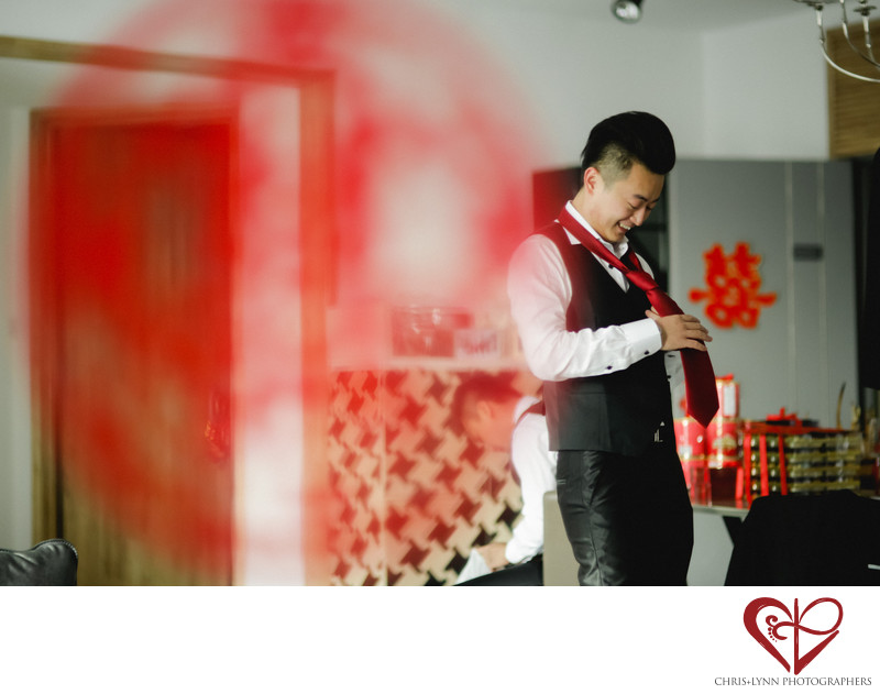 China Destination Wedding, X'ian groomsmen