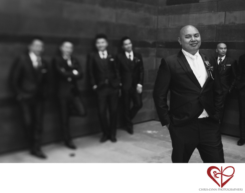 China Destination Wedding, X'ian Photos, Groomsmen
