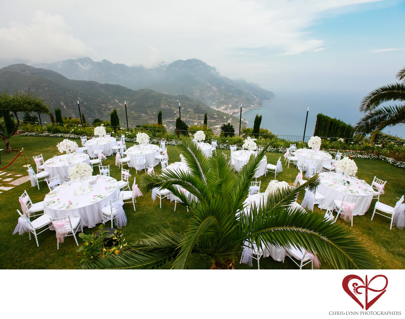 Wedding Reception at Hotel Caruso, Ravello, Italy