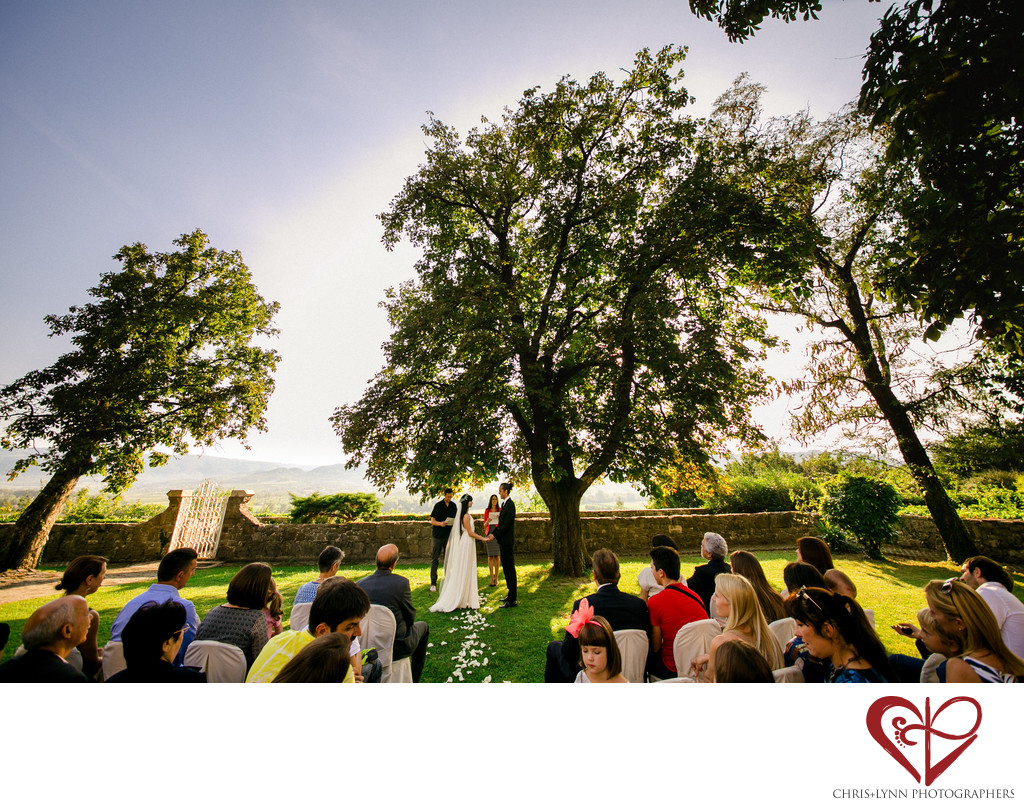 Dvorec Zemono Vineyard Wedding Ceremony