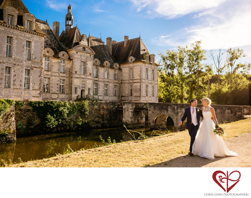 Chateau de Saint Loup Wedding Bride Groom Pictures 9