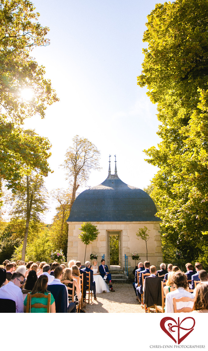 Chateau de Saint Loup Wedding Ceremony Photos 1