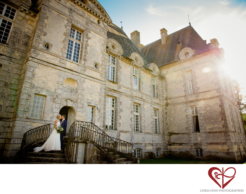 Chateau de Saint Loup Wedding Bride and Groom Pictures