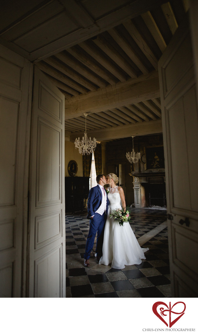 Chateau Saint Loup Wedding Bride and Groom Portrait 4
