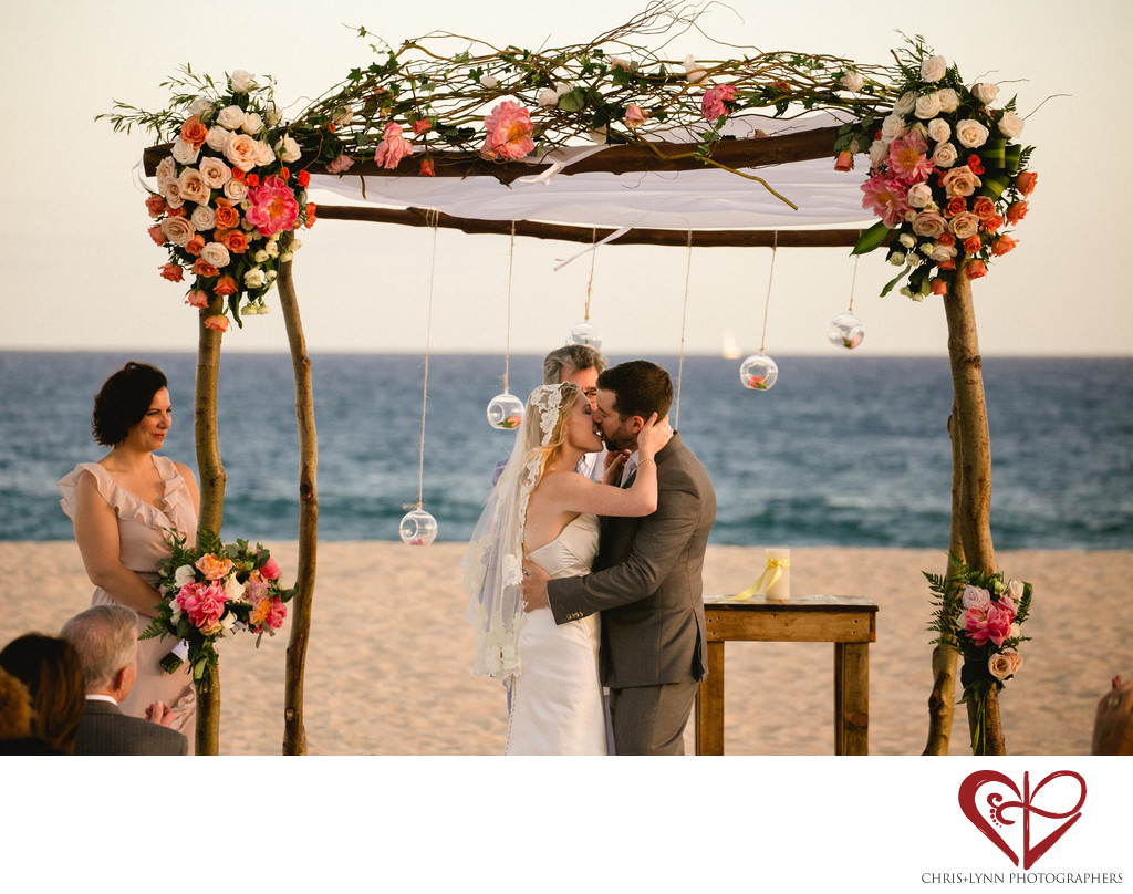 Club Campestre Beach Wedding Ceremony, Sunset Pictures