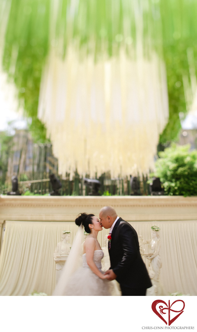 China Destination Wedding, Ceremony Kiss Photo