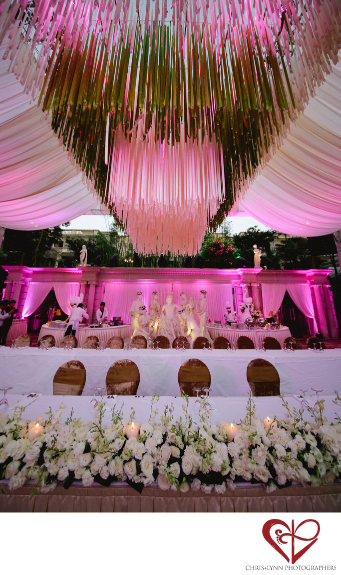 China Destination Wedding, X'ian Reception Decor