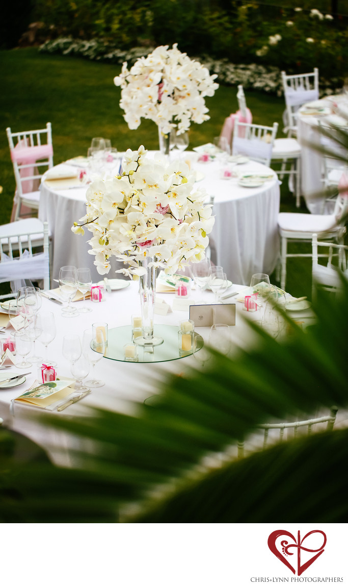 Hotel Caruso Wedding Reception Decor Photo