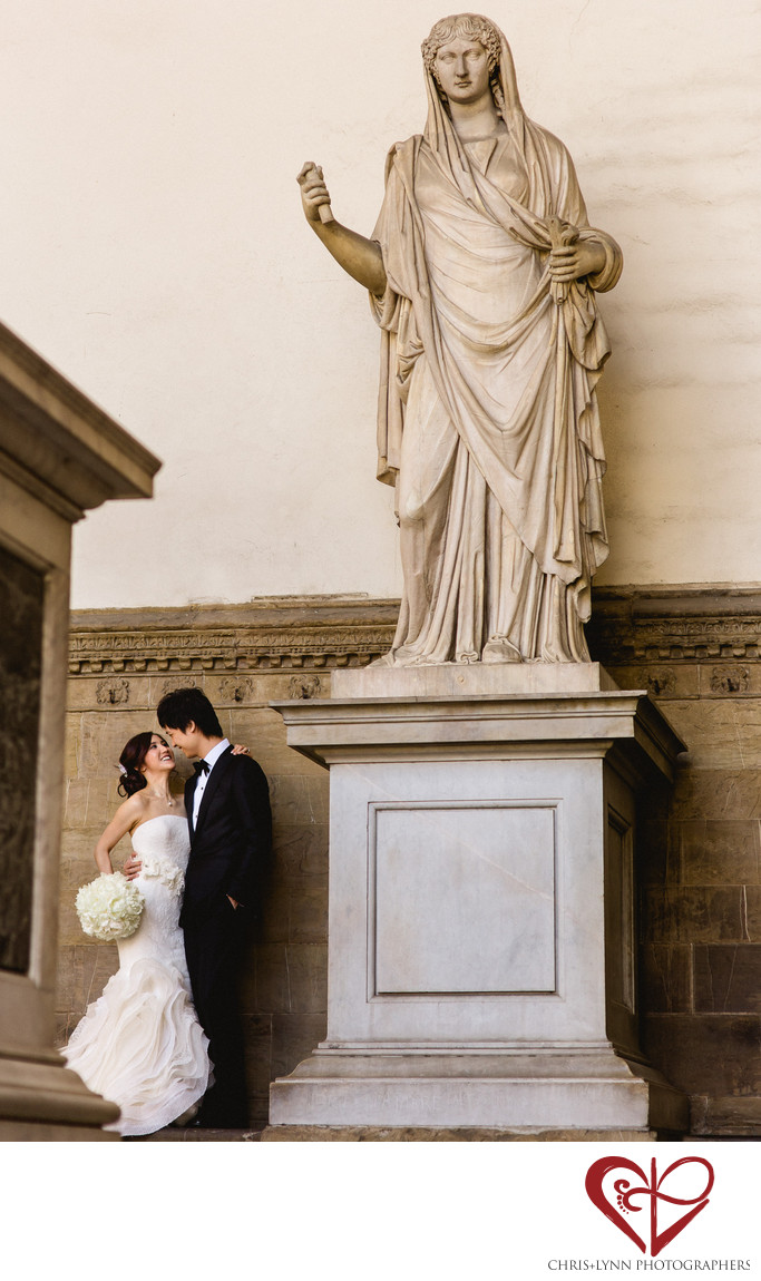 Florence Wedding Photos, Bride and Groom Portrait 2