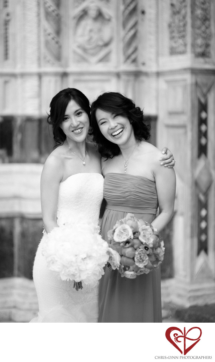 Florence Wedding Photos, Bride and Bridesmaid Portrait
