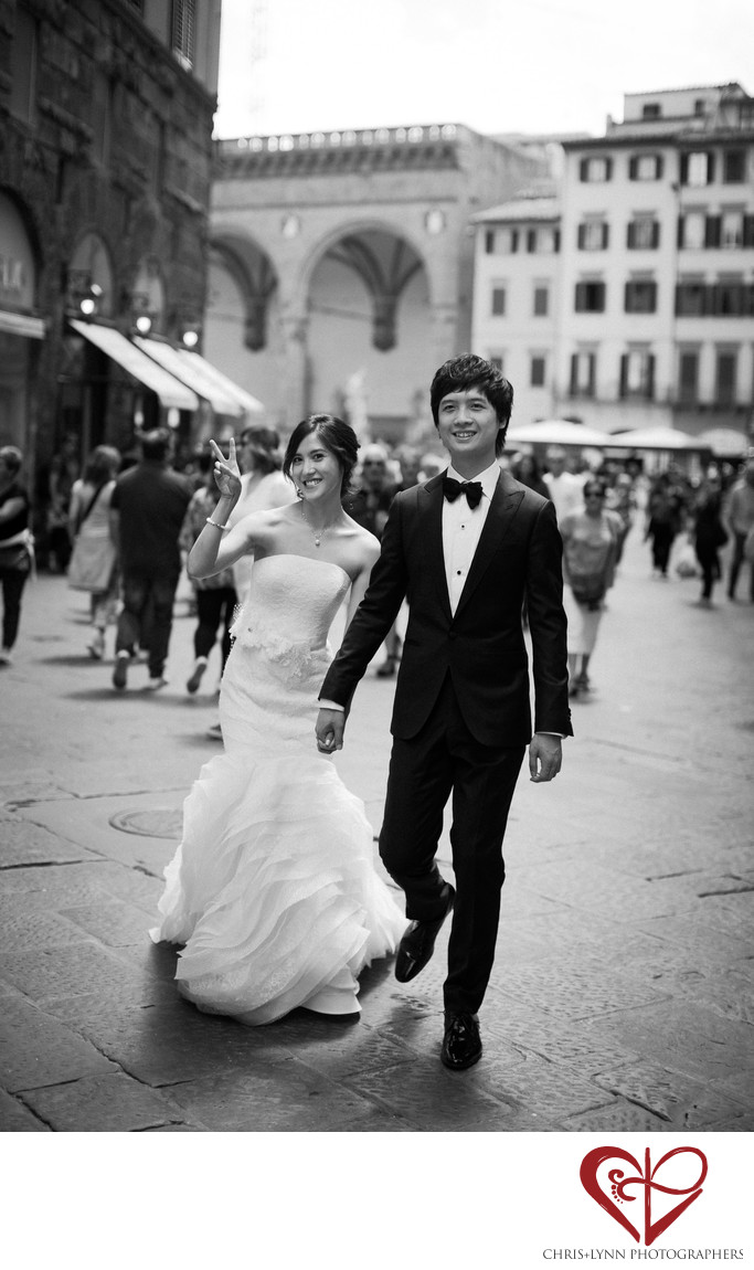 Florence Wedding Photos, Bride and Groom Portrait 7