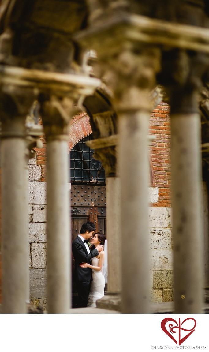 Italy Destination Wedding Bride And Groom kiss
