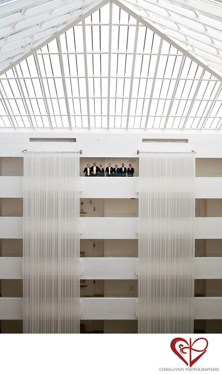 Wedding at Le Blanc Spa Resort Cancun, Groomsmen Portrait