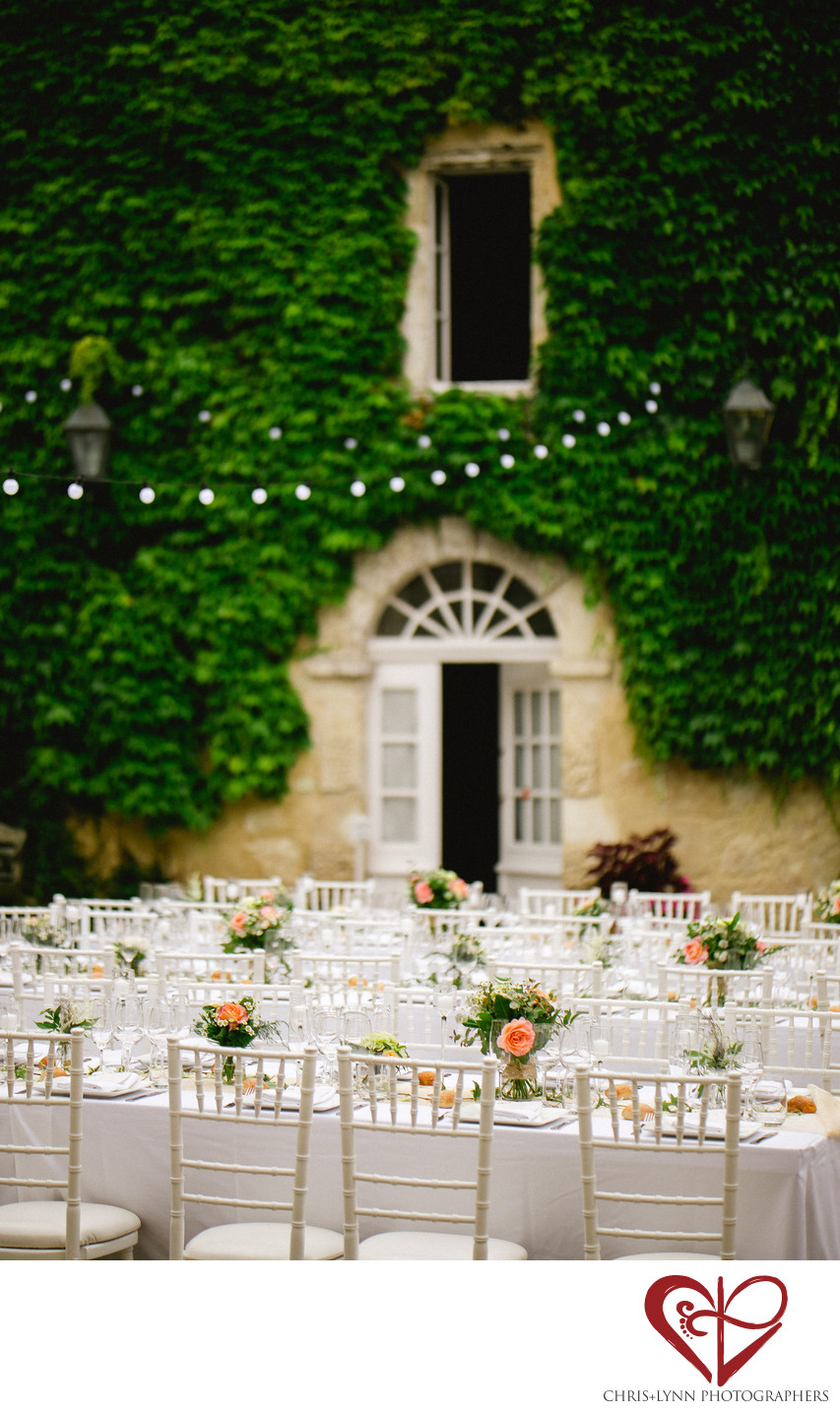 France Chateau Weddings, Decor Picture