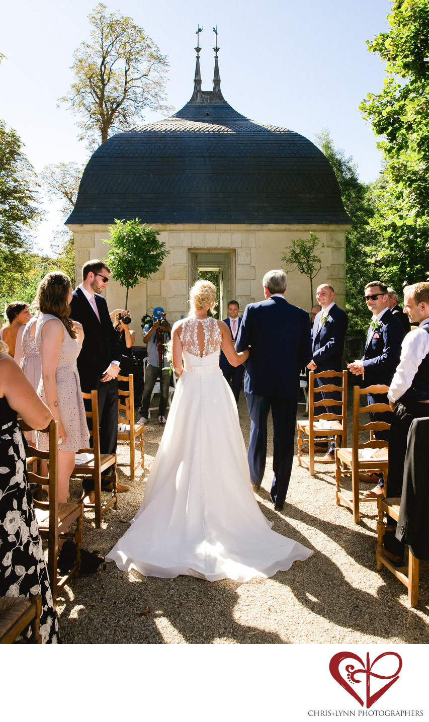 Chateau de St Loup Wedding Photos, ceremony 2
