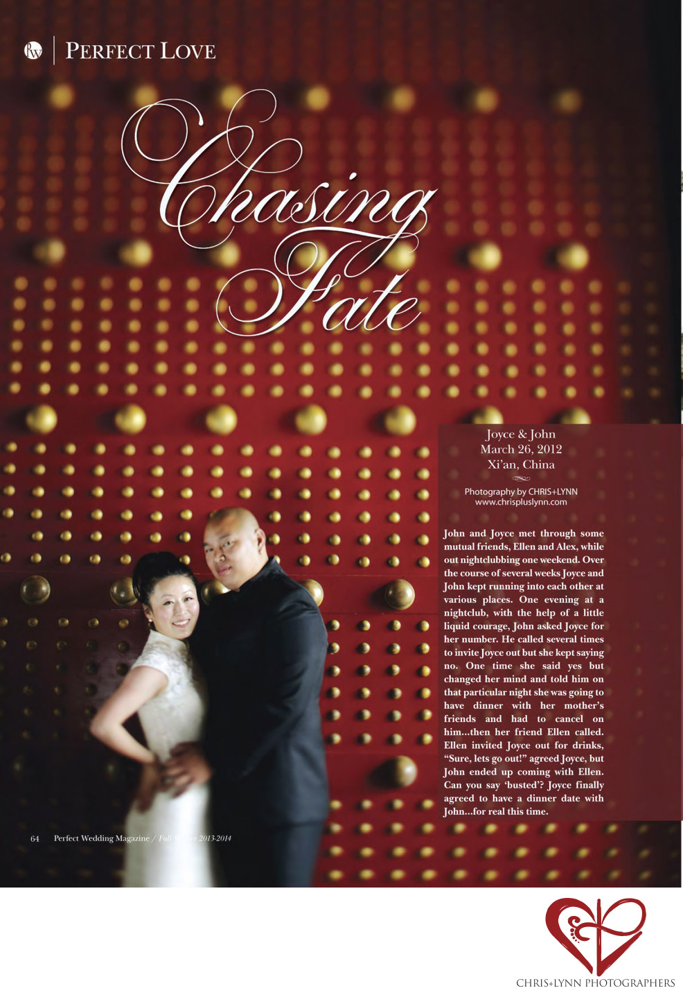 PERFECT WEDDING MAGAZINE - X'IAN CHINA WEDDING