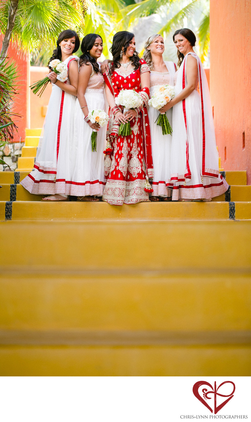Bridesmaids at Teitiare Estates Sayulita Wedding