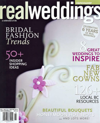 REAL WEDDINGS - CAKE COVER PHOTO