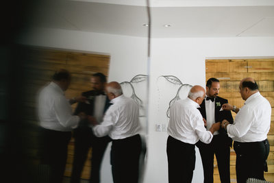 Persian Wedding at Hotel El Ganzo, groomsmen photo