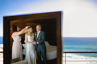 The Cape Hotel Wedding, Los Cabos, Mexico, Bride & Veil