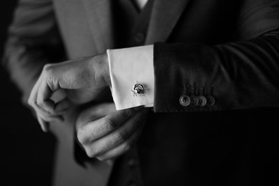 Wedding at The Cape Hotel in Los Cabos, Groom Cufflink