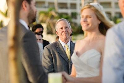 Club Campestre Wedding Ceremony, father of Bride