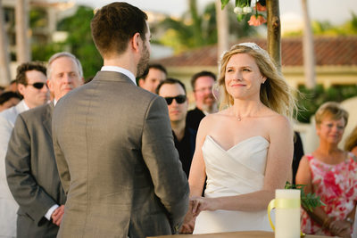 Club Campestre Wedding Ceremony, Bride Reaction