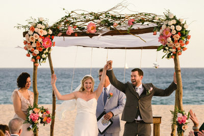 Photos of Club Campestre Beach Wedding Ceremony