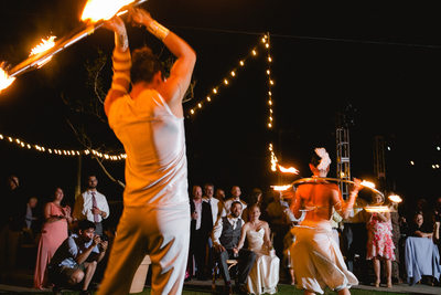 Club Campestre Wedding, Reception Photos, Firedancers