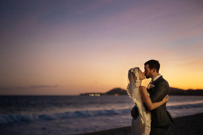 Beach Wedding Photos at Club Campestre, Night Photos
