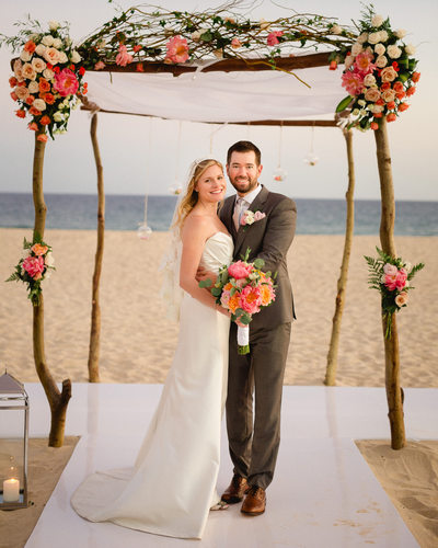 Beach Wedding Photos at Club Campestre, Mexico
