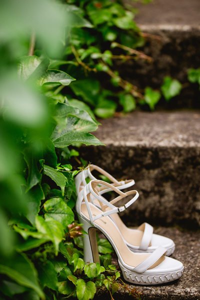 Wedding Shoes Photo at Chateau Malliac Wedding
