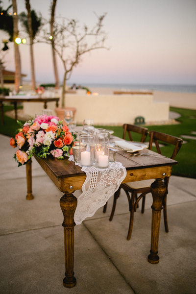 Club Campestre Wedding Reception, Sweetheart Table