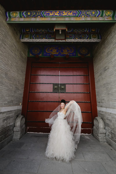 China Destination Wedding, Bridal Photos in X'ian