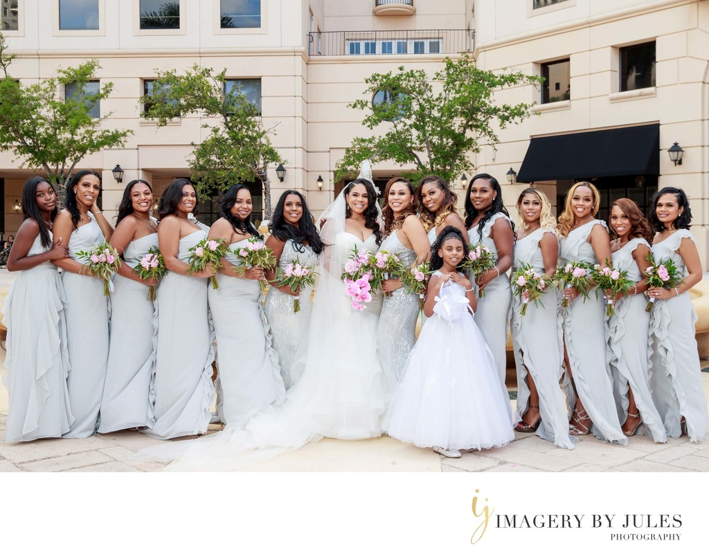 Coral Gables Douglas Entrance Bridal Portrait
