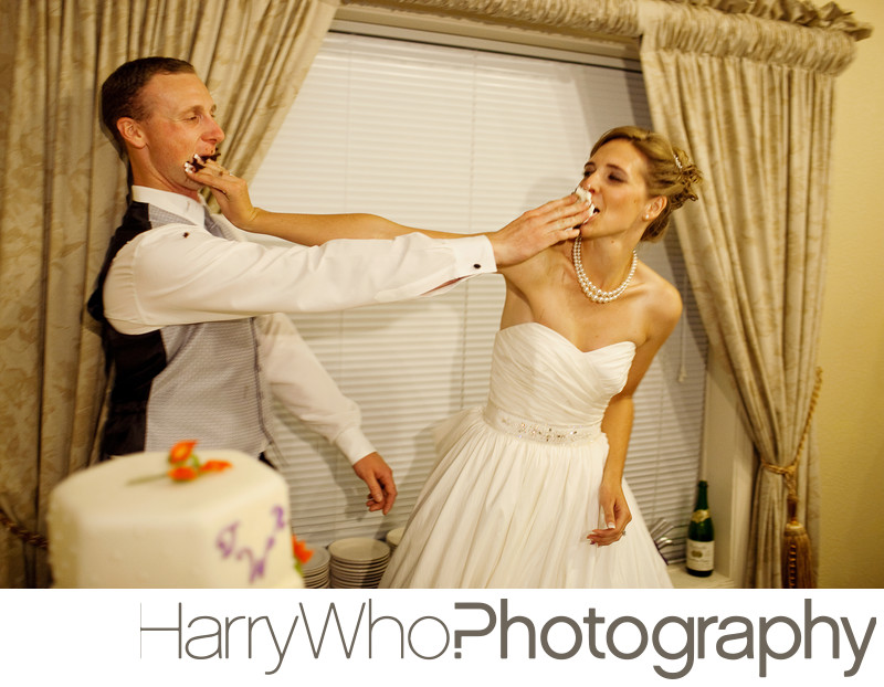Fun Cake Cutting Photo