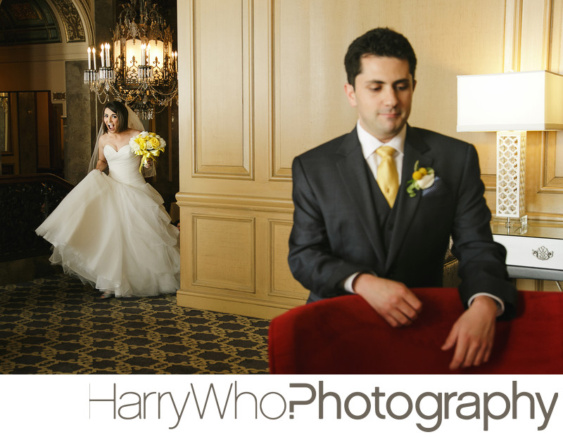 Wedding First Look Photo at Sif Francis Drake Hotel