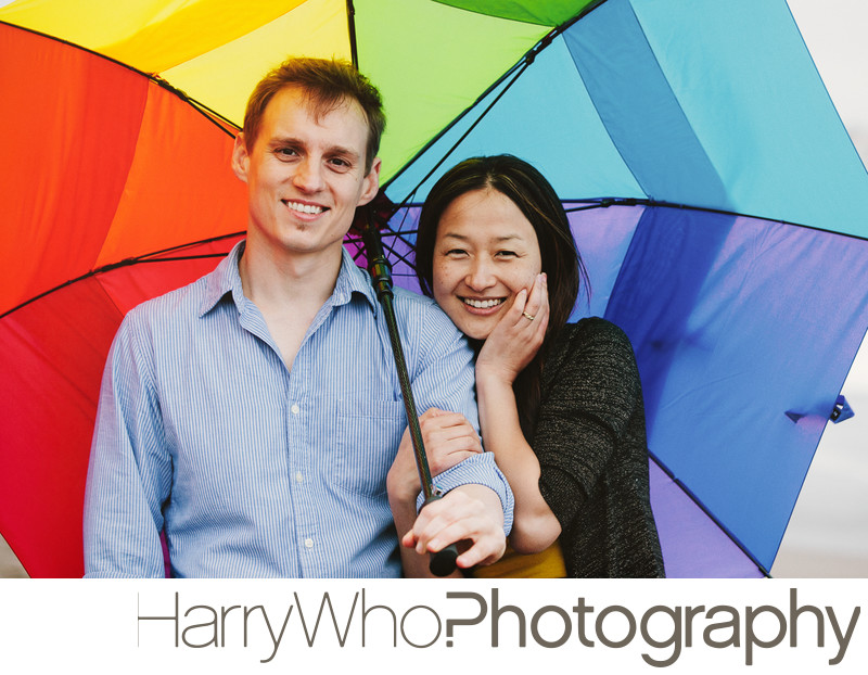 Colorful Engagement Photo