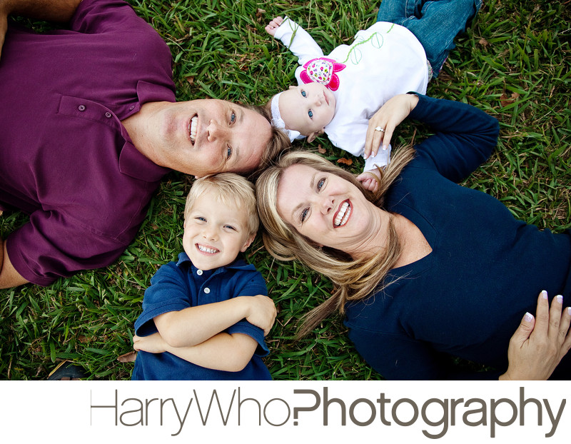 A fun and natural family photo Los Gatos